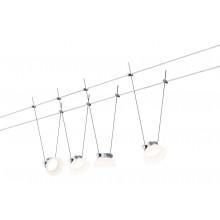 Paulmann Smart Seilsystem IceLED 4x4W DC Chrom matt mit Weißlichtsteuerung