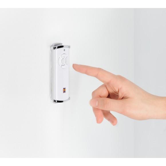 Hörmann Handsenderhalterung transparent inkl. Sonnenblendeclip-Sicherungshandsender HSS 4 BiSecur