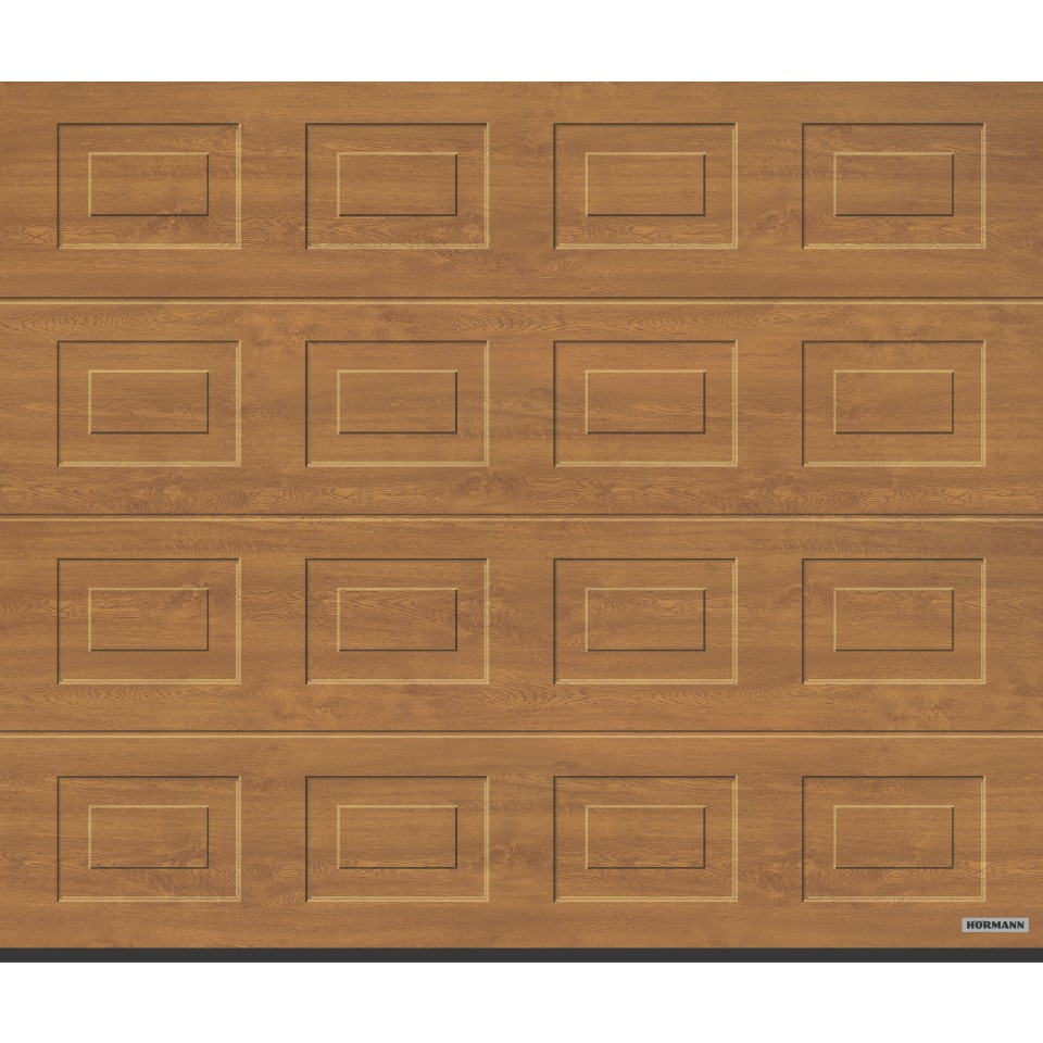 h rmann garagentor sektionaltor lpu40 s kassette decograin holzdekor golden oak mein. Black Bedroom Furniture Sets. Home Design Ideas