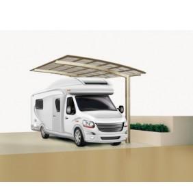 Ximax Carport Portoforte Typ 60 495 x 270 cm Edelstahl-Look
