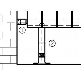 Ximax Raumteiler-Set für Raumheizkörper GAMBA Duplex und P1 Duplex