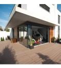 OSMO MULTI-DECK BPC-Terrassendiele Hohlkammer BRAUN-glatt oder genutet