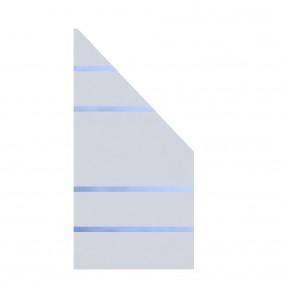 TraumGarten Glaselement Design ALPHA 90x180/90 Anschluss rechts