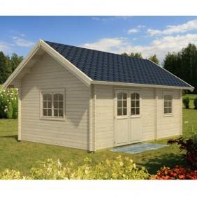 Palmako Ferienhaus Sandra 29,9 m² - 44 mm - naturbelassen