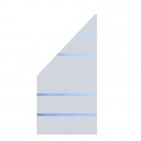 TraumGarten Glaselement Design ALPHA Anschluss links