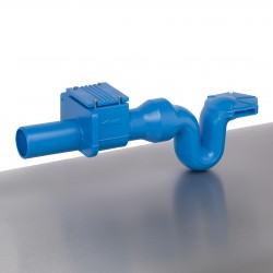 Aquaroc  Überlaufsiphon mit integr. Rückstauklappe