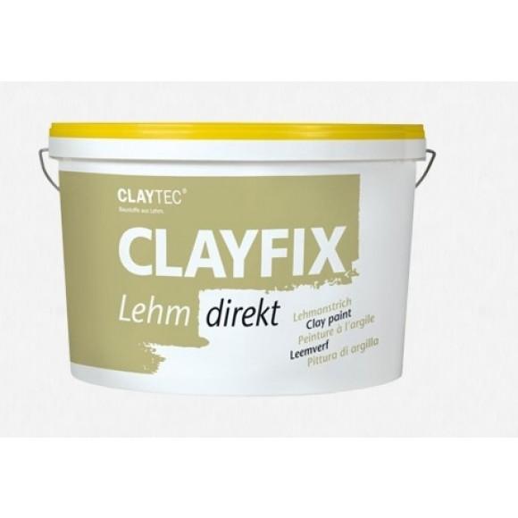 CLAYTEC Lehmfarbe CLAYFIX Lehm direkt 10 kg