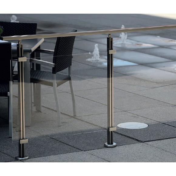 Gelander Komplettset Aluminium Acrylglas Klar Mein Baustoffshop24 De