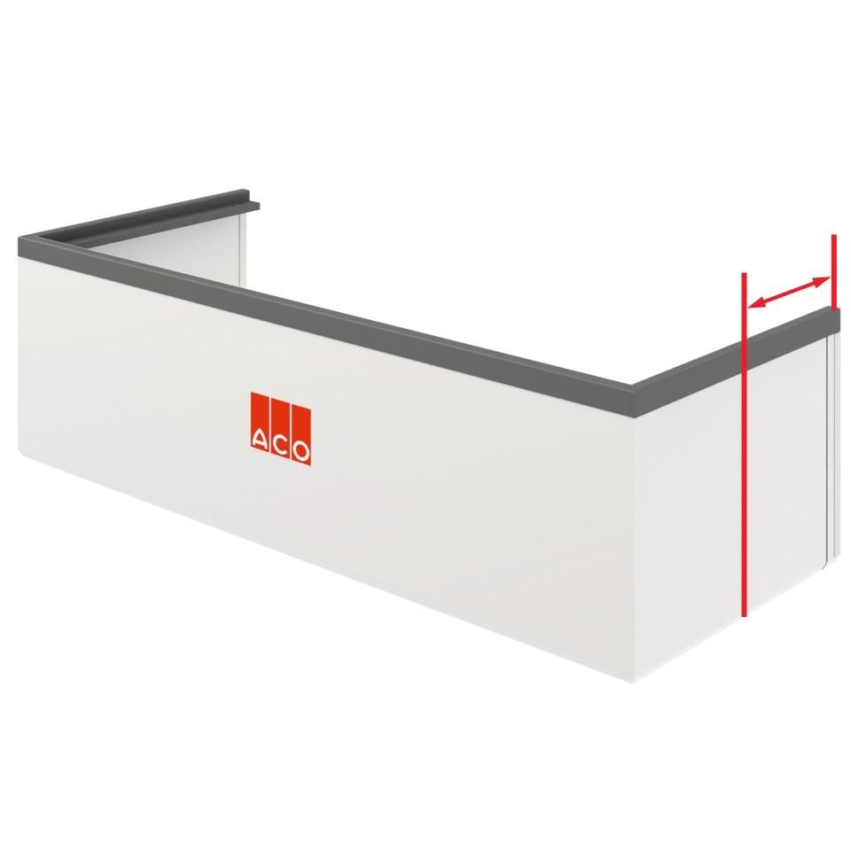 aco aufstockelement komplett set f r lichtschacht tiefe 60 cm verl ngerter schnekel mein. Black Bedroom Furniture Sets. Home Design Ideas
