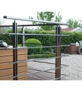 Geländer-Komplettmeter Aluminium Vierkantstäbe
