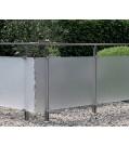 Geländer-Komplettset Aluminium Acrylglas Satiniert