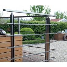 Geländer-Komplettset Aluminium Vierkantstäbe