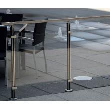 Geländer-Komplettset Aluminium Acrylglas Klar