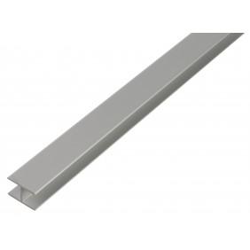 GAH U-Profil, selbstklemmend, 10x10,9x10x1,5mm, Alu silber eloxiert