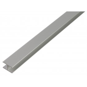 GAH H-Profil, selbstklemmend, 7,9x20x1,5 mm, Alu silber eloxiert