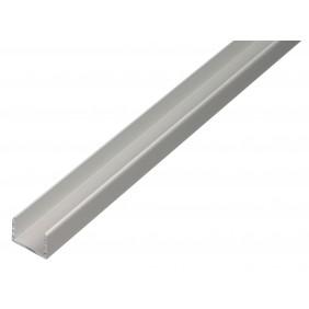 GAH U-Profil, selbstklemmend, 15x15,9x15x1,5mm, Alu silber eloxiert