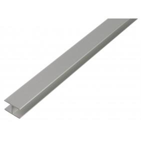 GAH H-Profil, selbstklemmend, 12,9x24x1,5 mm, Alu silber eloxiert