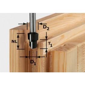 Festool Stufenfräser HW Schaft 12 mm HW D16,3/12,3/9,3 S12