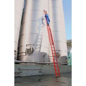 Vollkunststoff-Schiebe- und Seilzugleiter 2-teilig mit Standtraverse