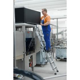 Günzburger Aluminium-Anlegeleiter mit relax-step