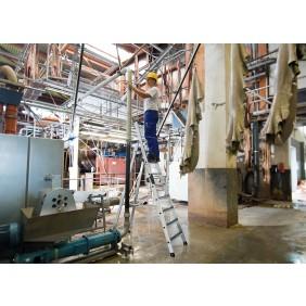Günzburger Aluminium-Stehleiter einseitig begehbar mit clip-step R13
