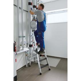 Günzburger Alu-Stehleiter 250 kg einseitig begehbar mit clip-step R13