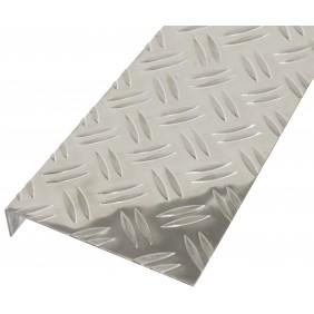 GAH Strukturblech, Riffelprägung, gekantet, L-Form, 135x30mm, Alu