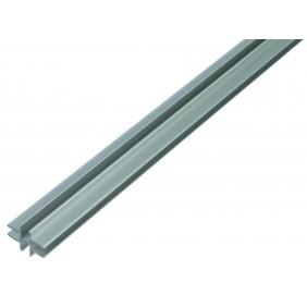 Kreuzprofil selbstklemmend, Alu, 36,9x24,0mm, Länge 1m