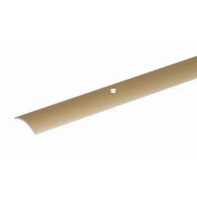 Für perfekte Übergänge zwischen zwei gleich hohen Bodenbelägen, z.B. Dehnfugen  Oberfläche: vermessingt, mit versenkten Schraublöchern  Materialstärke: 1 mm