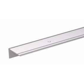 GAH Treppenkanten-Schutzprofil gebohrt, Alu, 43x23mm, Länge 1m