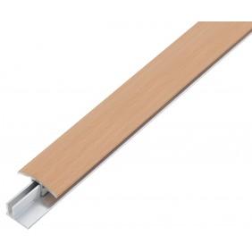 GAH Übergangsprofil DUO, Alu, Breite 34mm, Länge 1m, versch. Dekore