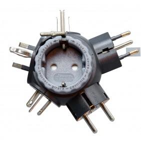 Kopp TRAVEL-STAR® PLUS Reise-Stecker Adapter anthrazit