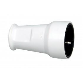 Kopp Kunststoff-Schutzkontakt-Schalenkupplung, grau