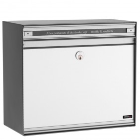 ALLUX SC200 Briefkasten mit Alu-Front - Weiss, Alu Front