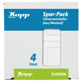 Kopp Universalschalter EUROPA arktis-weiß Profi-Pack