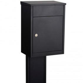 ALLUX 500 Paket-Briefkasten - Schwarz