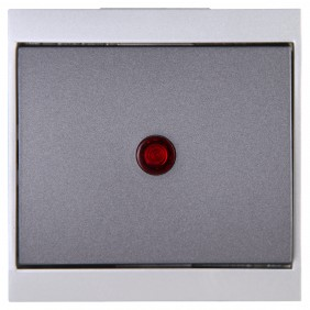 Kopp Kontrollschalter MALTA silber/anthrazit beleuchtet
