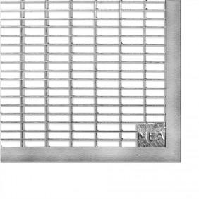 MEA Lichtschacht Gitterrost befahrbar - Masche 30/10 - Kantenschutz PKW