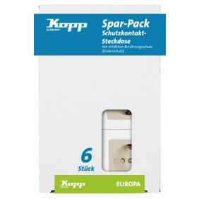 Kopp Schutzkontakt- Steckdose EUROPA creme-weiß PROFI-PACK