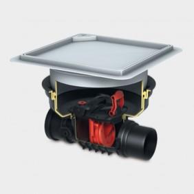 KESSEL - Rückstaueinfachverschluss für Einbau in die Bodenplatte - befließbare Abdeckung