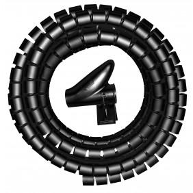 Kopp Kabelorganisierer flexibel 2,5m Ø 20mm schwarz