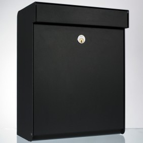 ALLUX Grundform Design Briefkasten 440x345x180 mm - Schwarz
