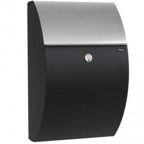 ALLUX 7000 Design Briefkasten - Schwarz/verzinkt