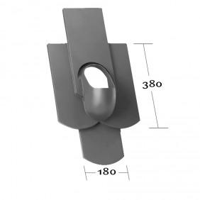 Klöber Venduct Grundplatte DN 100 Vierfachbiber 18x38 cm