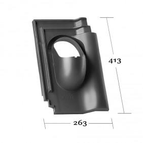 Klöber Venduct Grundplatte DN 100 Flachdachpfanne Bogen Z15