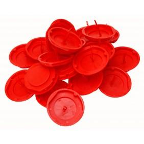 Kopp Signaldeckel für Schalterdose Ø 60mm rot
