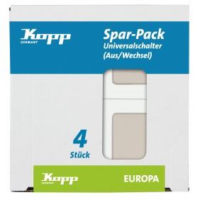 Kopp Universalschalter EUROPA creme-weiß Profi-Pack