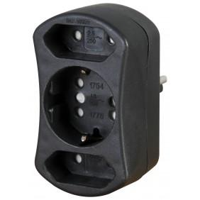 Kopp DUOversal©-Adapter, schwarz