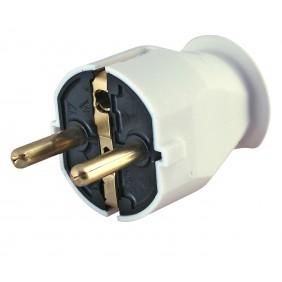 Kopp Kunststoff- Schutzkontakt- Stecker arktis-weiß