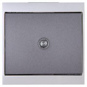 Kopp Universalschalter MALTA silber/anthrazit beleuchtet